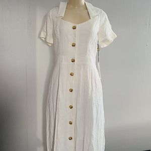 June and Hudson button down dress NWT